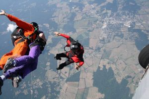 ...and totally jumped out of a plane.